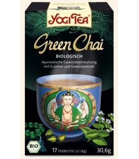 Herbata zielona Green Chai Bio Yogi Tea 17 torebek