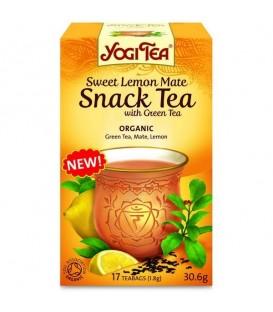 Sweet Lemon Mate Snack Tea with green tea 17 torebek Yogi Tea