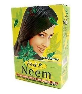 Maseczka Neem w proszku 2w1 - do włosów i twarzy (cera tłusta) 100g Hesh