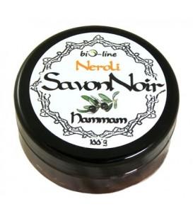 Savon Noir Neroli - Tradycyjne Naturalne Czarne Mydło z Olejkiem z Kwiatów Gorzkiej Pomarańczy 200g Bio-line