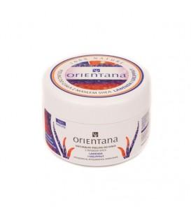 Naturalny peeling do ciała z masłem shea LAWENDA I GREJFRUT 200g Orientana
