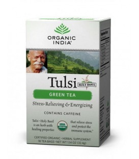 Herbata Green Tulsi Tea 18 torebek Organic India
