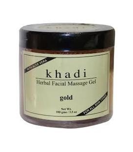 Khadi Żel do masażu twarzy z drobinkami ZŁOTA 100g