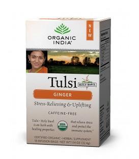 Herbata Ginger Tulsi Tea 18 torebek Organic India
