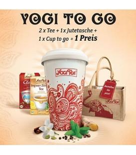 Oryginalny zestaw prezentowy Yogi Tea - 2 herbaty Klasyczna, Imbir z Cytryną + wygodny, zdobiony kubek do zaparzania!