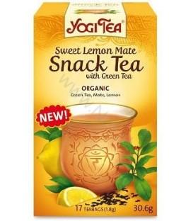 Herbata Słodka cytrynowa mate z zieloną herbatą, Yogi Tea -  17 torebek