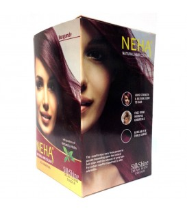 Ziołowa farba do włosów - Natural Hair Colour 150g NEHA - BURGUND