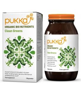 BIO Clean Greens z chlorofilem, Proszek 120g, PUKKA  suplement diety