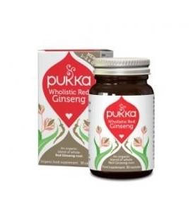 Wholistic Red Ginseng - (Energia, Odporność) 30 Kapsułek Pukka  suplement diety