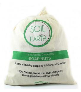 Orzechy piorące łupinki PREMIUM 1kg + 2 woreczki do pralki Soil & Earth