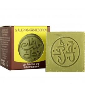 5 GUEST ALEPPO SOAPS - 5 x 20g Najel