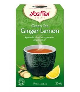 Herbata Zielona z Cytryną i Imbirem 17 torebek Yogi Tea Bio