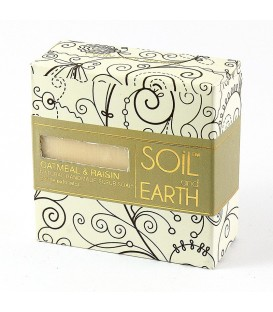 Mydło Naturalne Peelingujące Płatki Owsiane i Rodzynki, 100g, Soil & Earth - cera tłusta