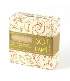 Naturalne Mydło Szafran i Miód 100g Soil&Earth - uelastycznia i odmładza