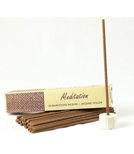 Kadzidła bambusowe z uchwytem MEDITATION 50 sztuk Song of India