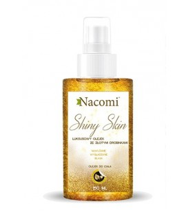 Rozświetlający olejek z drobinkami złota wersja całoroczna 150ml Nacomi