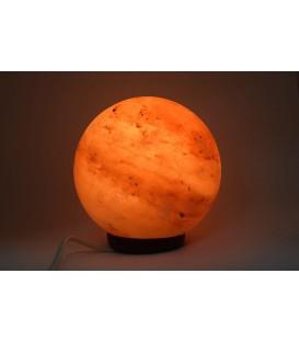 Lampa solna rzeźbiona w ksztalcie kuli 15 cm