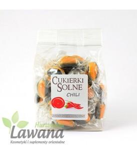 Cukierki solne o smaku chili z solą himalajską, 100g
