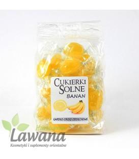 Cukierki solne o smaku bananowym z solą himalajską, 100g