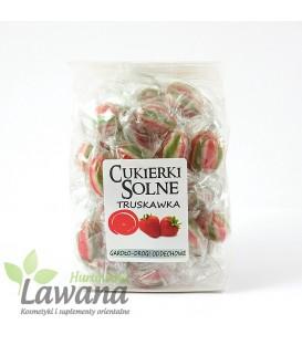 Cukierki solne o smaku truskawek z solą himalajską, 100g