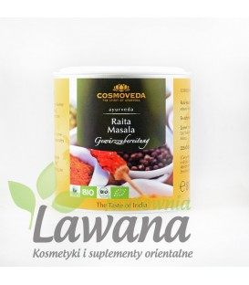 Mieszanka przypraw do warzyw z jogurtem Raita Masala ORGANICZNA 80g Cosmoveda