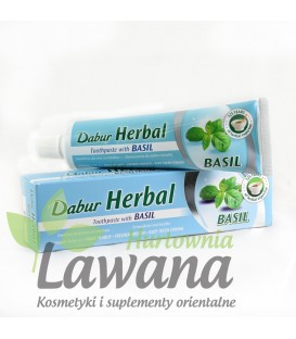 Ziołowa pasta do zębów z Tulasi (Święta Bazylia) 100ml Dabur
