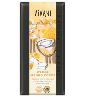 Czekolada biała mango kokosowo-jogurtowa BIO 100 g VIVANI