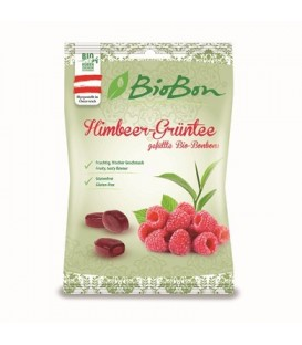 Cukierki o smaku maliny i zielonej herbaty BIO 85 g - BIO BON