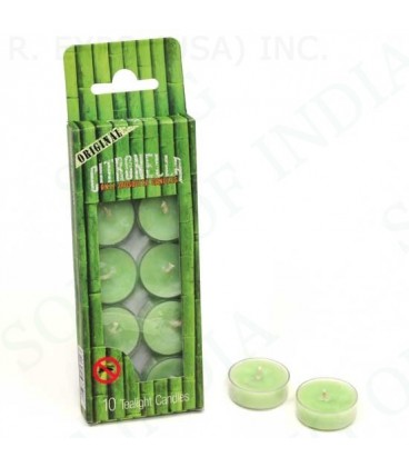 Świeczki Citronella - odstraszające komary - 10 szt. wykonywane w Indiach
