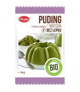 Pudding z Herbatą Matcha o Smaku Ananasowym (Bezglutenowy) BIO 40 g - Amylon