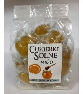 Cukierki solne o smaku miodu z solą himalajską, 100g
