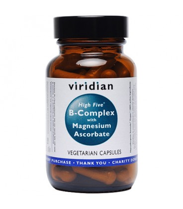 B - Complex High Five with Magnesium Ascorbate Suplement Diety 120 kapsułek Viridian