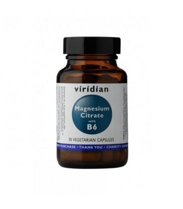 Magnez z B6 Suplement Diety 30 kapsułek, Viridian