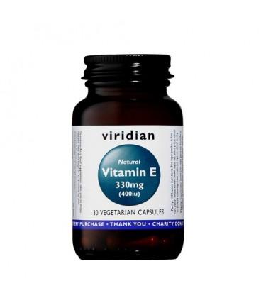 Naturalna Witamina E 330 mg (400 IU) Suplement Diety 30 kapsułek Viridian