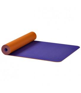 Mata dwustronna Yogamat Yin-Yang Earth, Pomarańczowo liliowa 61 x 183 cm, Ekstra cienka