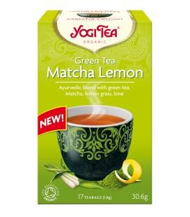 Zielona Herbata Matcha z Cytryną Bio 17 torebek YOGI TEA