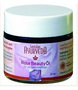 Rose Beauty Oil from Santulan, 25ml This oil has specially been designed for the care of facial skin. It is non-greasy and has