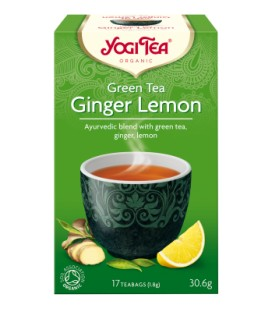Zielona herbata z imbirem i cytryną BIO 17 torebek YOGI TEA