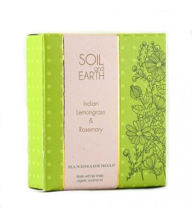 SOIL AND EARTH HANDMADE SOAP- INDIAN LEMONGRASS