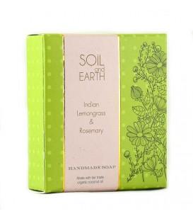 SOIL AND EARTH HANDMADE SOAP- INDIAN LEMONGRASS