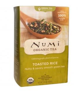 Herbata BIO Zielona Sencha z Palonym Ryżem, 18 torebek, Numi Organic Tea