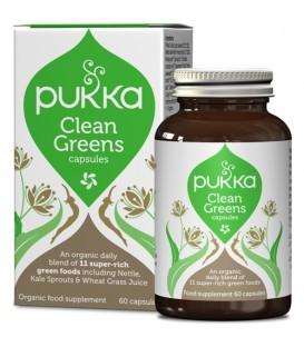 Clean Greens naturalna zdolność oczyszczania 60 kapsulek PUKKA