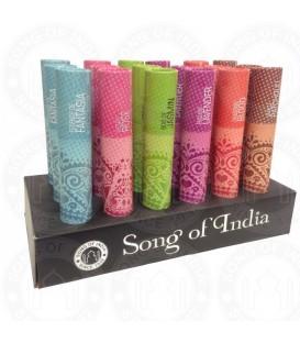 Tradycyjne kadzidła w opakowaniu w kształcie tuby, POMARAŃCZA I CYNAMON, 25g Song of India