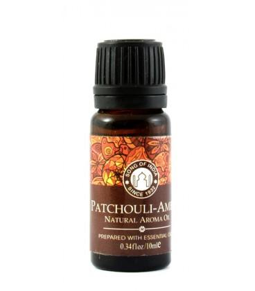 Olejek zapachowy z zakraplaczem, Patchouli-Amber , Song of India, 10ml