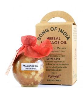 Ziołowy olej do masażu z aromatyczną esencją Drzewa Sandałowego, Song of India, 100ml
