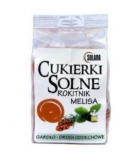 Cukierki solne o smaku melisa rokitnik z solą kamienną 100g