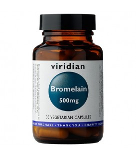 Bromelain 500 mg (30 kapsułek) suplement diety Viridian