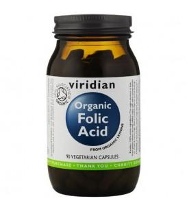 Ekologiczny kwas foliowy (90 kapsułek) suplement diety  Viridian