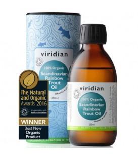 Ekologiczny Olej ze Skandynawskiego Pstrąga Tęczowego (200 ml) Viridian