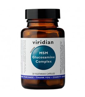 Glukozamina z MSM – wegan (30 kapsułek) suplement diety Viridian